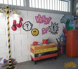KRISPI REKLAM GRAFFİTİLERİ